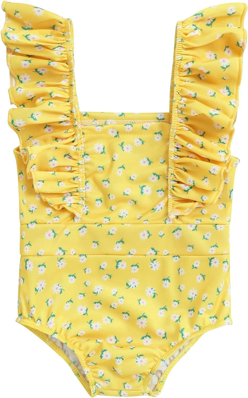 Hipea Toddler Girls Tankini Swimsuits Bowknot 2Pcs Bikini Bathing Beach Summer Outfits