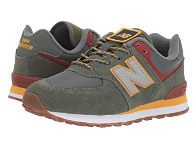New Balance Kids Camp 574 (Little Kid) (Slate Green/Red Jasper) Boys Shoes