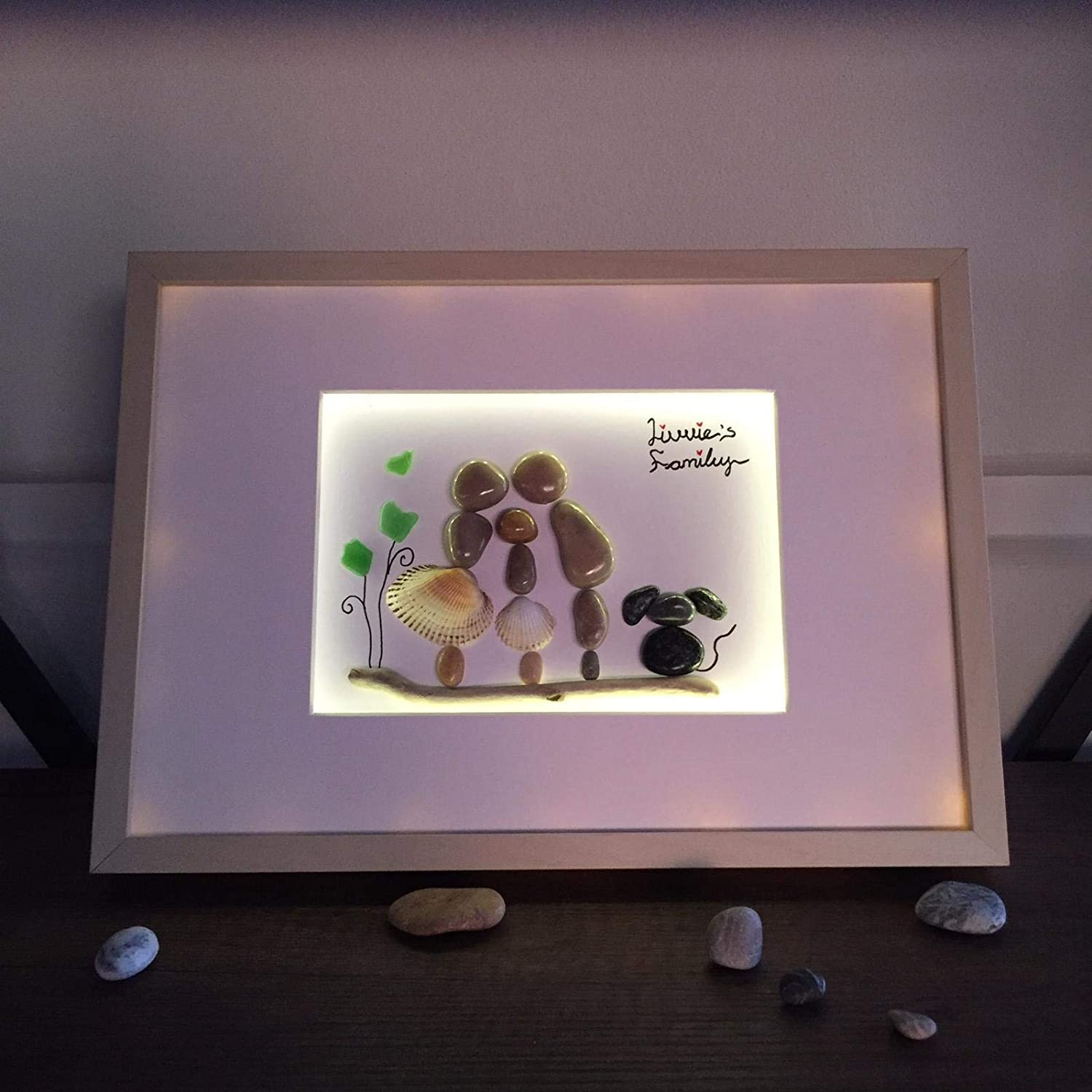 Very 2021 model special In a popularity gift for my wife pebble Led family art frame
