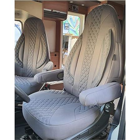 Maß Sitzbezüge Kompatibel Mit Fiat Ducato Typ 250 Bj Ab 2006 Fahrer Beifahrer Fb Pl404 Schwarz Baby