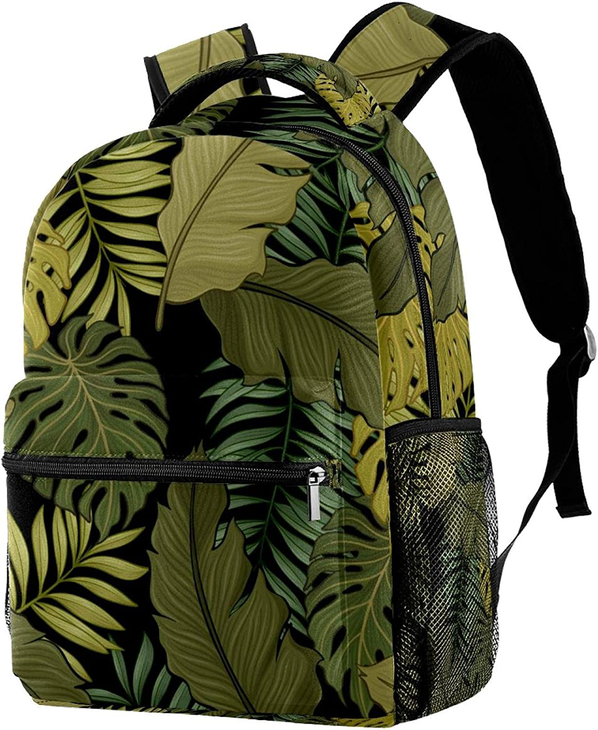 imobaby Tropical Leaves Pattern Max Branded goods 51% OFF Casual Large Travel Daypack Bags