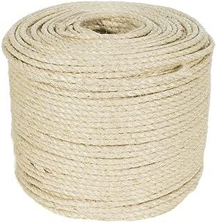 Golberg Premium 3/8-Inch Twisted Sisal Rope - Pet Safe - 100 Feet