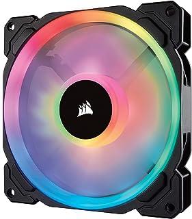 Corsair LL140 RGB LED PWM PC Gehäuselüfter (140mm Dual Licht Loop RGB LED, Einzelverpackung) schwarz