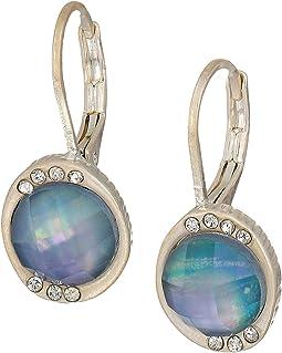 Stone Pave Drop Earrings