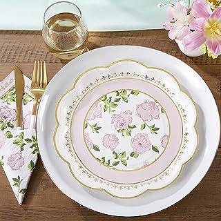 أطباق ورقية غريبة الأطوار من كايت أسبن تي تايم، تستخدم لمرة واحدة لحفلات الزفاف، أدوات مائدة للاستعمال مرة واحدة، لون وردي
