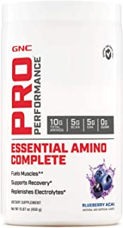 GNC Pro Performance Essential Amino Complete, Blueberry Acai, 15.87 oz, Supports Muscle Recovery
