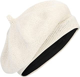 d5cfea8f WITHMOONS Beret Hat Breathable Mesh Summer Straw French Berets KRF1165