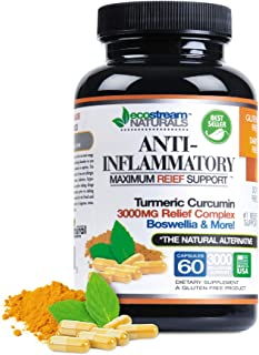 Anti-Inflammatory by Ecostream Naturals, for Inflammation-Induced Pain, Day or Night Use, Naturally Derived Ingredients, S...