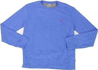 Polo Ralph Lauren Men's Performance Crew Neck Lightweight Long Sleeve Sweatshirt (Dockside Blue, X-Large)