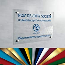 Plexiglas professioneel bord, personaliseerbaar, 30 x 20 cm, verkrijgbaar in 13 kleuren (transparant)