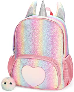 Kids Unicorn Backpack for Girls Rainbow School Bag