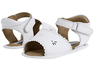 Elephantito Sandal W/ Scallop (Infant/Toddler) (White) Girl