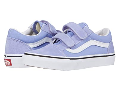 Vans Kids Old Skool V (Little Kid) (Pale Iris/True White) Girls Shoes