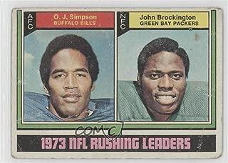 O.J. Simpson; John Brockington Ungraded COMC Poor (Football Card) 1974 Topps - [Base] #328