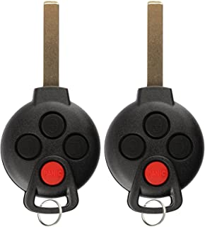 KeylessOption Keyless Entry Remote Control Uncut Ignition Car Key Fob Replacement for KR55WK45144 (Pack of 2)