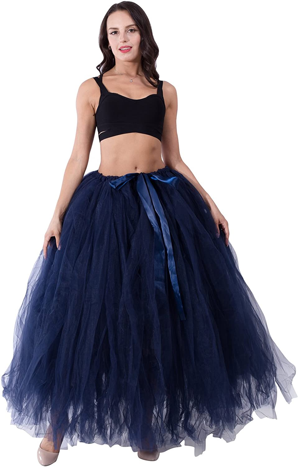 Ankle Length Ball Gown Layers Soft Tulle Skirt for Women