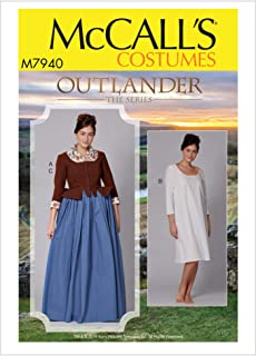 McCall's Patterns M7940 E5 Misses' Costume Jacket and Chemise from Outlander The Series, Size 14-22