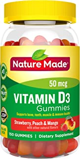 Nature Made Vitamin D3 2000 IU (50 mcg) Gummies, 150 Count for Bone Health† (Packaging May Vary)
