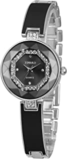 Time100 Women Fashion Multifaceted Flash Diamond Bracelet Quartz Female Watch