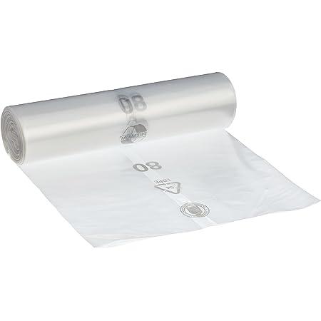 Bolsa de basura DEISS PREMIUM 70 litros, translúcido, tipo 60