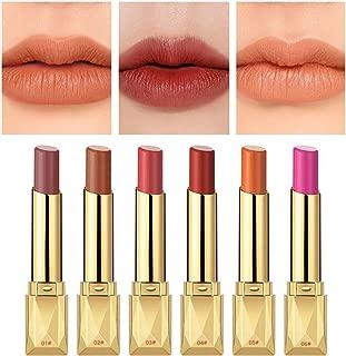 6PCS Matte Lipstick Set Matte Silky Velvet Waterproof Lipstick Lasting Non-stick Cup Lipstick (#(01-06))