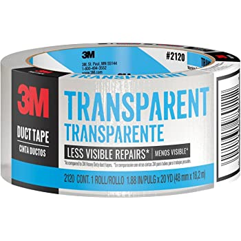 3M 2120-A 3M-2120A Duct Tape, 20 Yard, Clear