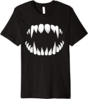 Vampire Teeth Dracula Fangs Halloween Monster Costume Outfit Premium T-Shirt