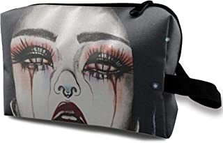 Lvxinghzd Goth Gotik Gothic Women Girl Art Portable Travel Makeup Cosmetic Bags Organizer Multifunction Case Toiletry Bags