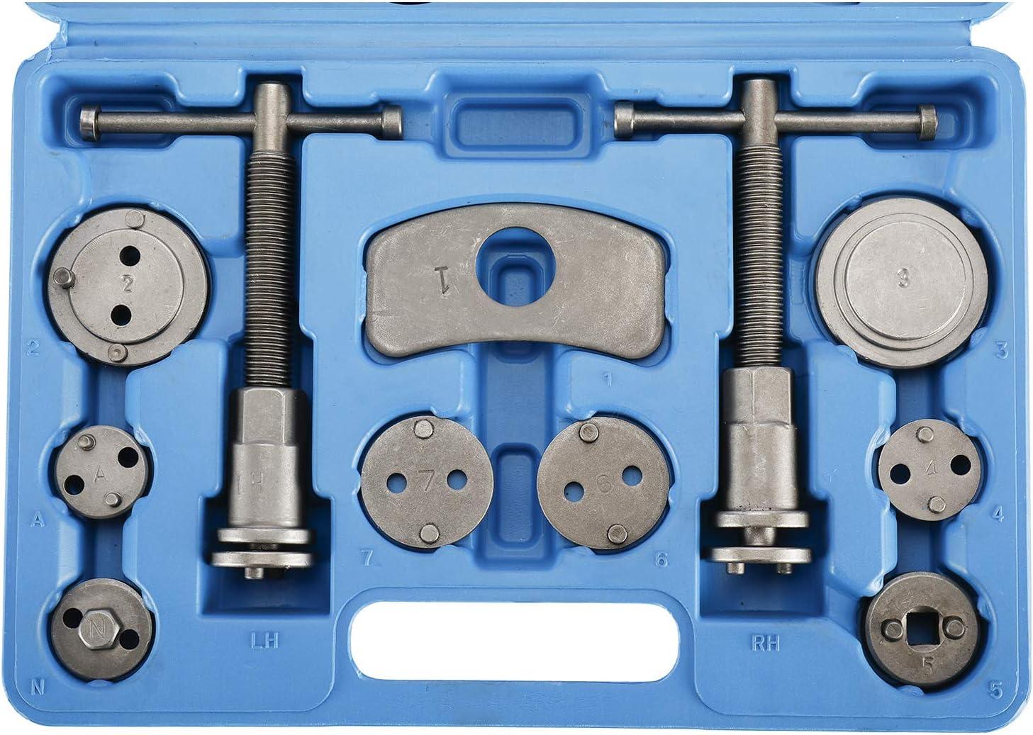 herramientas de reparaci/ón de frenos FreeTec Juego de 22 piezas universal de reposicionador de pistones de freno pinza de freno pist/ón viento con gancho y guante