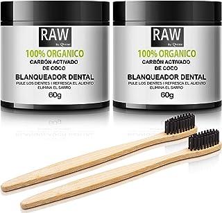 QVENE Pack (2) BLANQUEADOR DENTAL - Teeth Whitening - Carbon Activado para Dientes -100% Organico- Efectivo para Blanqueam...
