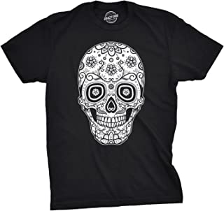 Crazy Dog Tshirts - Mens Sugar Skull Cool Mexican Crystal Day of The Dead Mask T Shirt - Camiseta Divertidas