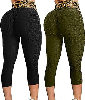 LNIBA Leggings Sportivi Donna Pantaloni Anticellulite Vita Alta Leggins Yoga Push Up Leggings Pants Fitness Elastico Opaco Resistenti Abbigliamento per Palestra Allenamento Jogging