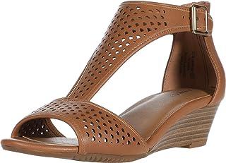 Aerosoles Women's Wedge Sandal, TAN, 7