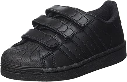 bef0681883c Adidas Originals Superstar Foundation Cf C Sneaker For Kids, 33 EU Black