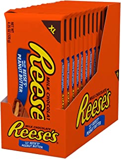 REESE'S Chocolate Candy Bars with Peanut Butter, Extra Large, 4.25 Ounce (Pack of 12)