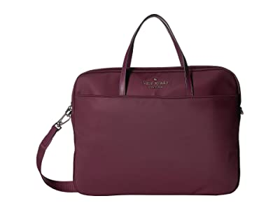 Kate Spade New York Universal Slim Laptop Commuter (Sangria) Handbags