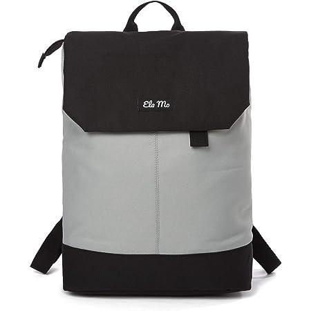 Ela Mo Rucksack Damen - Schön u. Durchdacht - Daypack mit Laptopfach & Anti Diebstahl Tasche für Ausflüge, Uni, Schule u. Büro (The Grey)