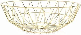 IWALYA Gold Fruit Bowl for Kitchen Counter Decor - Large...