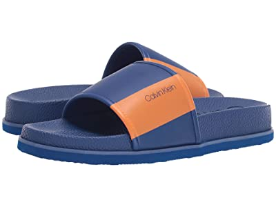 Calvin Klein Mackee (Royal Blue Nappa/Water Transfer Logo Print) Men