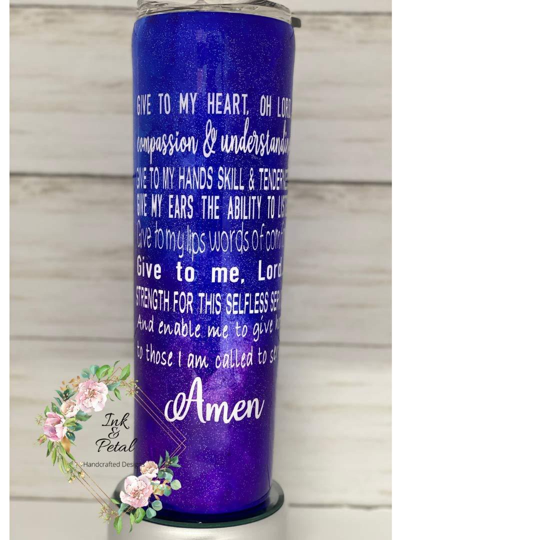 Nurse's Genuine Brand Cheap Sale Venue Free Shipping Prayer Tumbler