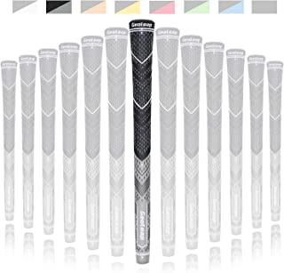 Geoleap Golf Grips Set of 13- Cord Rubber, Hybrid Golf Club Grips, Standard/Mdisize, 8 Colors Optional.