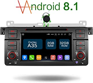 AMASE AUDIO Amaseaudio Android 8.1 Upgrade 32GB ROM 7 Inch Touch Screen Single Din Indash Car Stereo Radio Multimedia GPS Navigating Headunit for BMW E46 M3