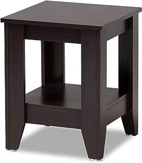 Baxton Studio End Tables, One Size, Dark Brown