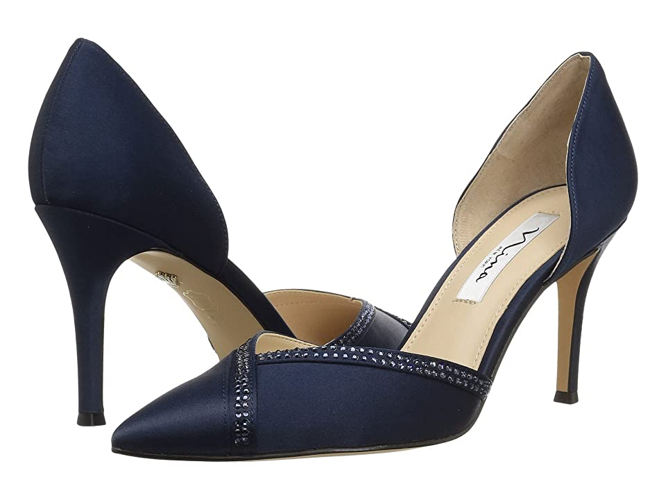 Nina Diora (New Navy Satin) High Heels