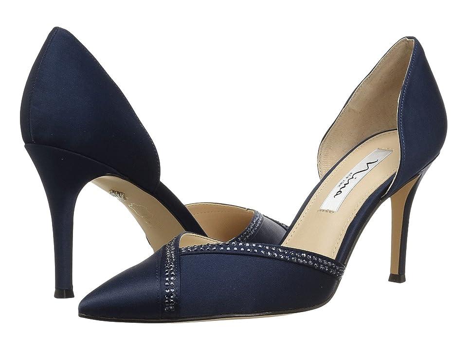 Nina Diora (New Navy Satin) High Heels