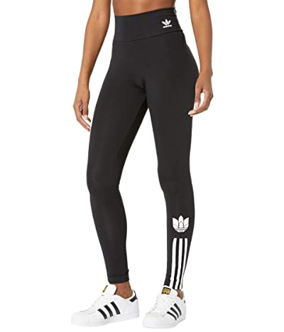 adidas Originals 3-D Trefoil High-Waisted Tights (Black) Women
