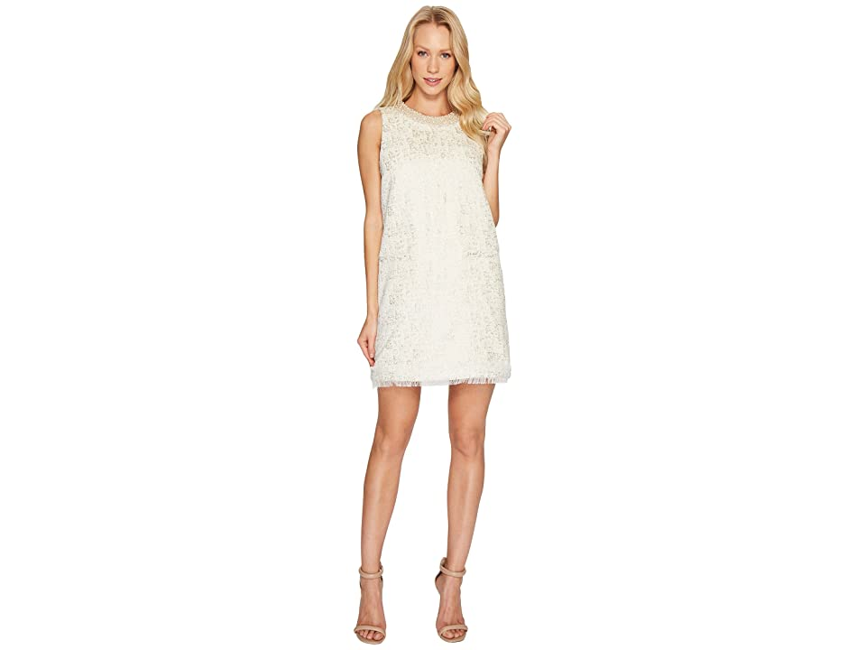 Rachel Zoe Metallic Boucle Spencer Dress (Ecru) Women