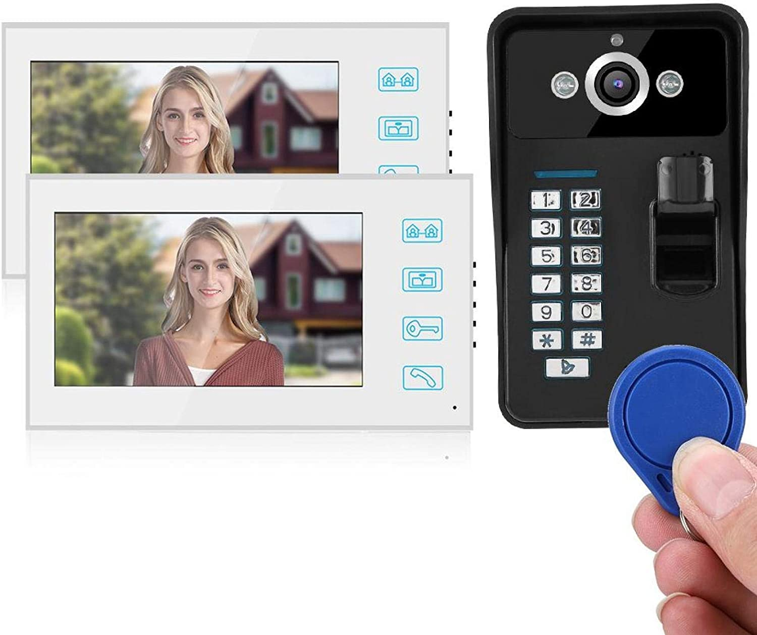Lowest price challenge IR Camera Doorbell Security Video ABS for 40% OFF Cheap Sale U.S. Material