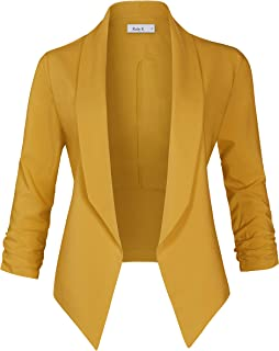 Womens Casual Work Office Lightweight Open Front Long Sleeve Drape Blazer  Jacket bee0575ad
