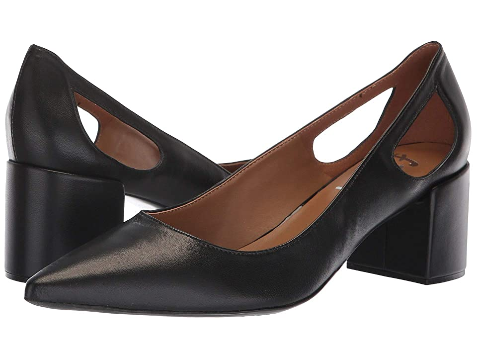 French Sole Courtney2 Heel (Black Nappa) Women